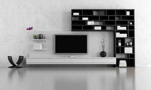 eine wohnwand sorgt f r struktur und stil. Black Bedroom Furniture Sets. Home Design Ideas
