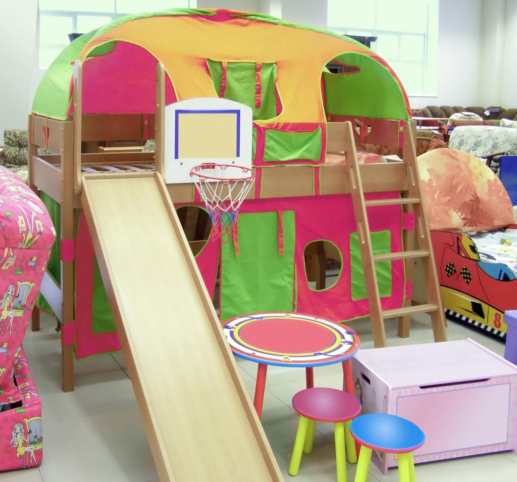 Kinderhochbett mit rutsche einkaufsmarktplatz - Klettern im kinderzimmer ...